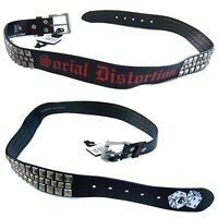 Social Distortion Studded Dice Logo Black Belt New Official Band Merch