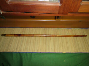 Antique Bamboo fly rod tip tube with brass screw off cap for early canvas bag