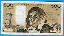 FRANCE 500 FRANCS PASCAL 3.11.1977