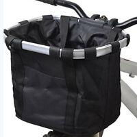 Bicycle Bike Detachable Cycle Front Canvas Basket Carrier Bag Pet Carrier