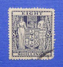 1940 8/- NEW ZEALAND STAMP DUTY REVENUE SC# AR82 SG# F199 B# 310 USED    CS33528