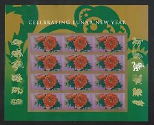 2016 #5057a Imperf Chinese Lunar New Year Monkey Pane of 12 Mint w/o Die Cuts
