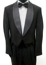 Black Lord West Full Dress Wool Tuxedo Tailcoat Wedding Mason *Made in USA*