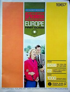Vintage 1967 Priceless First Class American Express Europe Booklet m670