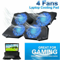 4 Fans Gaming Laptop Cooler Cooling Pad Notebook Stand Holder with Dual USB