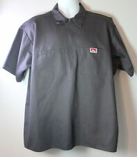 VINTAGE Ben Davis Men's XL Work Shirt Made in the USA 1/2 Zip Shirt