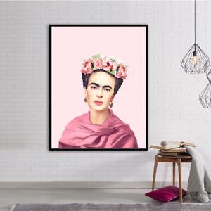 Canvas Print - Frida Kahlo Vintage Poster Home Decor Art for Sale Unframed