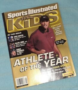 January 2001 SI for Kids Tiger Woods Magazine with Special 4 Tiger Slam Cards