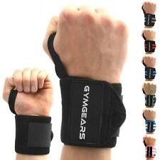 GYMGEARS Sports Handgelenkbandagen, 45cm - Schwarz, 2er Set (GGWWSC)