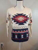 American Eagle Size XS Women's Sweater Aztec Southwestern Wool Blend Top
