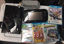 Nintendo Wii U 32gb Black Console & Mario Kart, Toad, Starfox, Etc