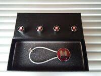 SEAT RED Chrome  Metal keyring key chain Key ring fob Gift box Set