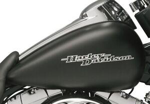 🔥 OEM Harley Touring Street Glide Black Gas Fuel Tank Emblems Set🔥