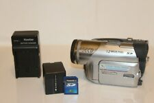 Panasonic 3Ccd Pv-Gs120 Mini Dv Works Great With Battery , Charger and Sd card