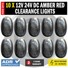 NEW 10 X 12V 24V DC Amber Red Clearance Lights Side Marker LED Trailer Truck AU