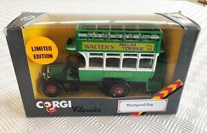"Vintage Corgi Classics C858/3 Thornycroft Bus ""Walter's Palm Toffee"" - boxed"