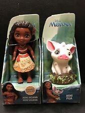 "Disney Princess Mini Toddler Dolls MOANA & PUA Jakks Pacific 3"" Posable Figure"