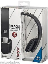 Wireless Bluetooth Rechargeable Blace BLK Headset for iPad iPhone PC Tablet