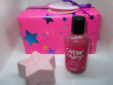 LUSH SNOW FAIRY Gift Set Shower Gel 3.3 oz & Massage Bar NEW Gift Wrapped FRESH