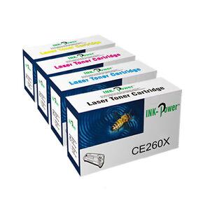 4 Toner Cartridge For HP Colour LaserJet CP4525dn CE260X CE261A CE262A CE263A
