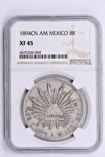 1894CN AM Mexico 8 Reales NGC XF 45 Witter Coin