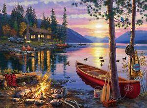 "Buffalo Games Darrell Bush Canoe Lake 1000pcs Jigsaw Puzzle 26.75"" x 19.75"""