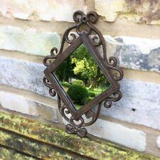 Türdekoration Spiegel Fenster - Spiegel Raute - Eisenfenster Antik Spiegel