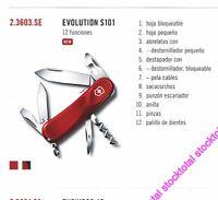 NAVAJA VICTORINOX 12 FUNCIONES EVOLUTION S101 MULTIUSOS 12 FUNCIONES 2.3603.SE