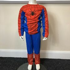 Boys Spiderman Red Blue Action Full Fancy Dress Costume UK Age 6-8 Years