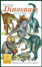 Heritage Playing Cards - DINOSAURS - NEW!  Very educational