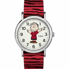 Peanuts Linus Timex Indiglo Weekender Black Red Nylon Canvas Watch TW2R41200