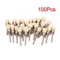 100Pcs Mini Abrasive Nylon Pen-shape Brush 5/6/8MM 3mm Shank Polishing Jewelry
