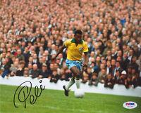 Pele Autographed 8x10 Soccer Brazil National Team Photo - PSA/DNA COA