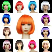 Women Straight Wigs Short Bob Hair Fancy Dress Cosplay Party Halloween Hairpiece