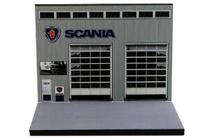 Diorama Garage Scania - 1/87ème | HO - #HO-2-A-A-003