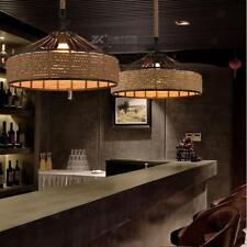 Retro Manila Rope Iron Ceiling Chandelier Pendant Lampshade Light Shade