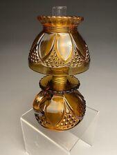 Imperial Amber Glass Finger Miniature Oil Kerosene Lamp