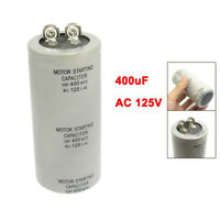Motor Start up Capacitor Gray 400uF AC 125V for Washing Machine D4R2 B6S4