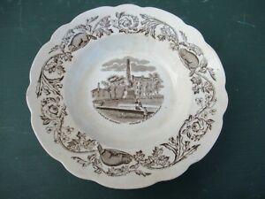 RARE 1880s Antique FT THOMAS MAPLE BEAVER Plate WOLFE MONTCALM BOWL SOUP Canada