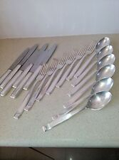 Antique Silver Plated Supper Cuttlery from Krup-Berndorf, 1930's, 6 x 3 pieces