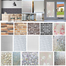 3D PVC No-Glue Static Window Film Frosted Glass Wall Stickers Home Decor Kits