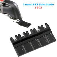 5PCS 34mm acier carbone Lame de scie oscillante Multifonction outil
