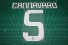 Real Madrid 08/09 #5 Cannavaro Awaykit / 3rd Awaykit Nameset Printing