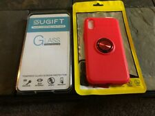 iPhone X Glass Screen Protector & Soft Phonecase