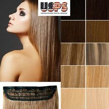 100% Real Top Clip In Remy Human Hair Extensions One Piece Best Selling Soft F26