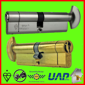 Euro Cylinder Lock Thumb-turn Keyed Alike 1* Variable Cylinder Size Combinations