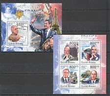 BC629 2011 GUINEA-BISSAU FRANCE PRESIDENTS TRANSPORT CONCORDE BL+KB MNH