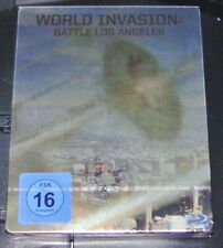 WORLD INVASION: BATTLE LOS ANGELES LIMITIERTE STEELBOOK BLU RAY NEU & OVP
