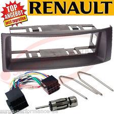 1-DIN Radioeinbau-Komplettset Renault Mégane / Scénic ab 1995, Schwarz black