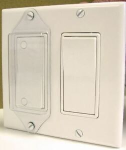 Light Switch Cover Guard Lock-Rocker Switch (Pack of 3 Clear)